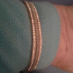 Gold tone & silver tone bracelet with crystals